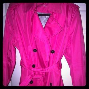 Beautiful Hot Pink Calvin Klein Trench Coat